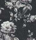 Bottomweight 7oz Stretch Denim Fabric -Floral Printed