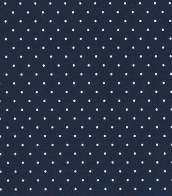 "Quilter's Showcase Cotton Fabric 44""-Navy Dot"