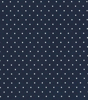 """Quilter's Showcase Cotton Fabric 44""""-Navy Dot"""