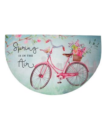 In the Garden Rubber Door Mat-Bike & Spring is in the Air