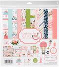 Carta Bella Paper Company Rock-A-Bye Baby Girl Collection 12\u0027\u0027x12\u0027\u0027 Kit