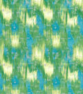 Modern Premium Cotton Print Fabric 43\u0027\u0027-Green & Metallic Texture