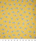 Premium Cotton Fabric-Remi Yellow Dragonflies