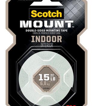 Scotch Mounting Tape 0.5''x2.08 yds-White