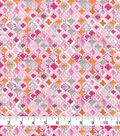 Keepsake Calico Cotton Fabric 43\u0022-Pink Flamingo Multi Geo