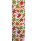 Simply Autumn Ribbon 2.5\u0027\u0027x12\u0027-Multi Leaves on Ivory