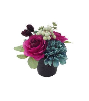 Blooming Autumn Small Jewel Rose & Marigold Arrangement