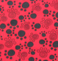 Blizzard Fleece Fabric -Paw Prints on Red