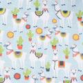 Blizzard Fleece Fabric-Llama All Over