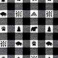 Nursery Flannel Fabric Boone Buffalo Checks