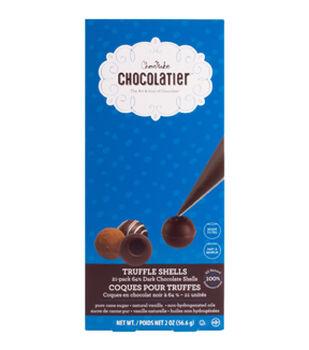 ChocoMaker Chocolatier 21 pk 64% Dark Chocolate Truffle Shells