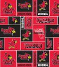 Illinois State University Redbirds Fleece Fabric 58\u0022-Block