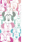 Disney Minnie Mouse Flannel Fabric-Heads Allover