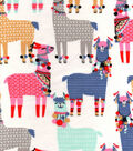 Snuggle Flannel Fabric -Party Llamas