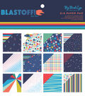 My Mind\u0027s Eye Blast Off 6\u0027\u0027x6\u0027\u0027 Paper Pad with Holographic Accents