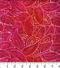 Legacy Studio Indonesian Batiks Cotton Fabric -Packed Leaves Pink