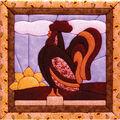 Rooster Quilt Magic Kit-12\u0022X12\u0022