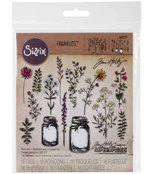 Tim Holtz Framelits Dies-Flower Jar