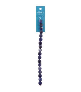 hildie & jo 7'' Agate Stone Strung Beads-Dark Blue