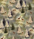 Christmas Cotton Fabric -Vintage Forest