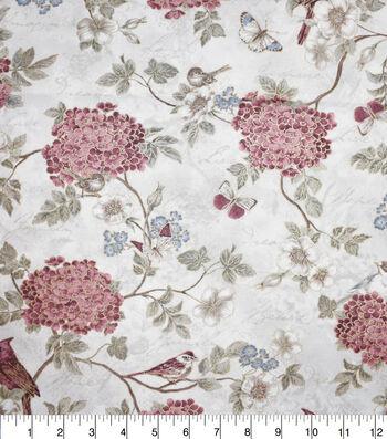 Premium Cotton Fabric-Camila Birds & Flowers
