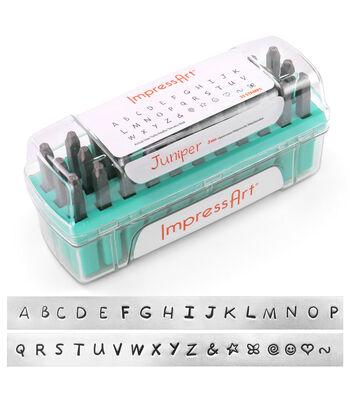 ImpressArt Juniper 3mm Font Uppercase Letterset