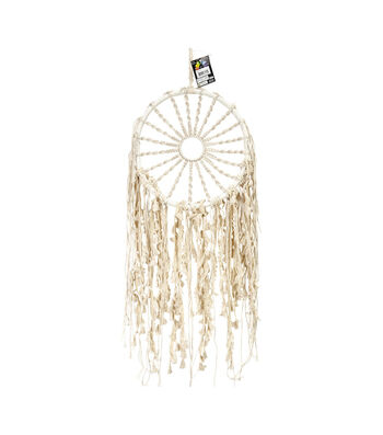 Touch of Nature 29'' Macrame Hoop with Braided Sun Wall Hanging
