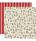 Christmas Double-Sided Cardstock 12\u0022X12\u0022-Wooden Windows
