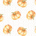Simply Autumn 52\u0027\u0027x90\u0027\u0027 Tablecloth-Pumpkins & Dots