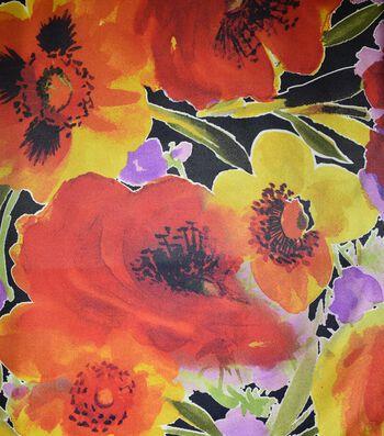 Gianna Taffeta Fabric 43''-Large All Over Floral Blossom
