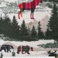 Anti-Pill Plush Fleece Fabric-Everest Animals in Nature