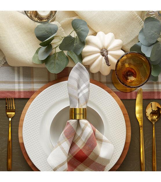 Design Imports Always Grateful Stamped Napkin Rings Set Of 4 Joann