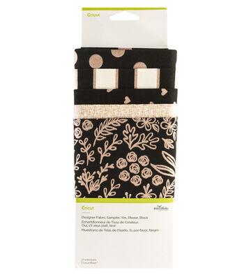 Cricut Designer Fabric Sampler-Yes Please Black