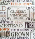 Anti-Pill Fleece Fabric 59\u0022-Country Words
