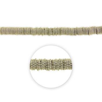 """Blue Moon Beads Strand 14""""Plastic Spacer Disc, Silver"""