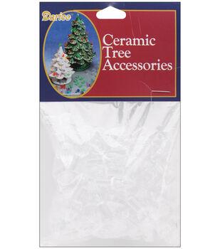 Darice Christmas 100 pk 0.63'' Flame Pin Bulbs for Ceramic Trees-Clear
