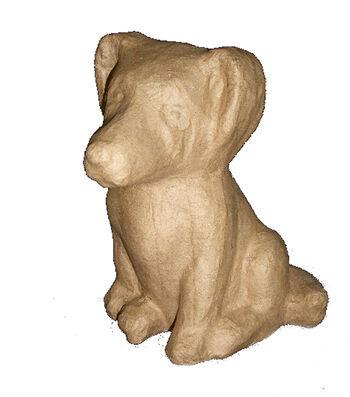 Paper Mache Sitting Dog