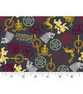 Game Of Thrones Flannel Fabric -House Sigils Toss