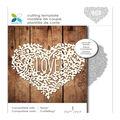 Momenta Cut & Emboss Die-Intricate Floral Heart Love