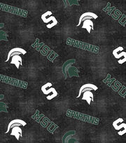 "Michigan State University Spartans Flannel Fabric 42""-Distressed Logo, , hi-res"