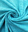 Earth Child Apparel Fabric -Peacock Blue Slub Knit