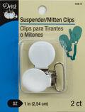 Suspender Mitten Clips 2/Pkg-White