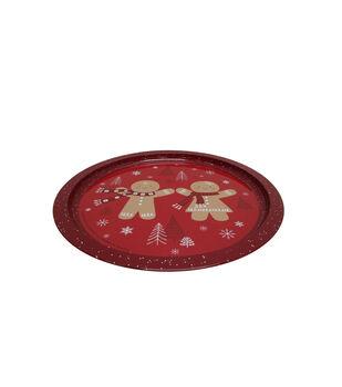 Handmade Holiday Christmas Cookie Platter-Gingerbread
