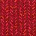Keepsake Calico Cotton Fabric-Red Watercolor Stamp