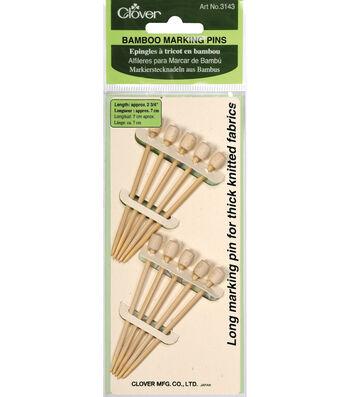 Clover Bamboo Marking Pins-10PK