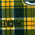 Green Bay Packers Fleece Fabric -Plaids