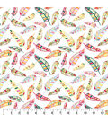 Snuggle Flannel Fabric-Tropical Feathers
