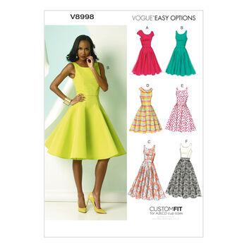 Vogue Patterns Misses Dress-V8998