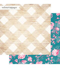 Webster\u0027s Pages My Happy Place 25 pk Double-sided Cardstock-Pretty Plaid
