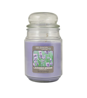 Hudson 43 Candle & Light Collection 18oz Value Jar Lavender Breeze